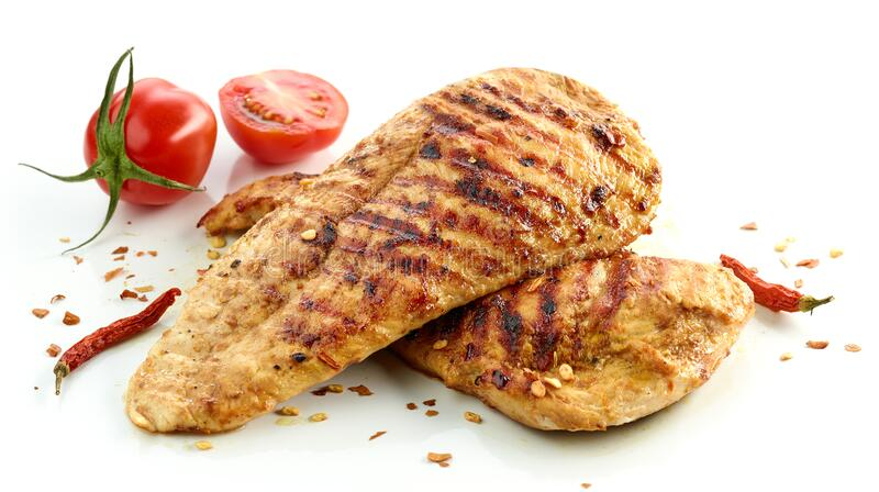 Hühnerfilet-Fleisch, gegrillt lizenzfreies stockbild