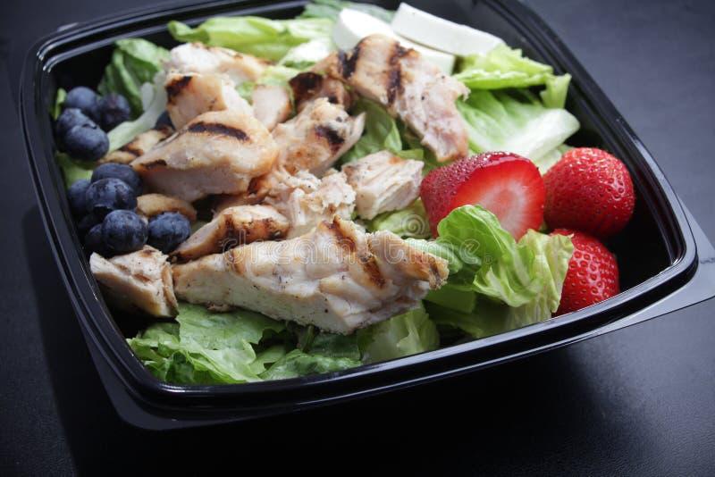 Hühnerobstsalat stockfotos
