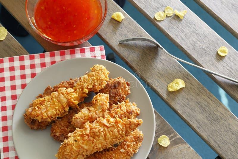 Hühnerstreifen lizenzfreie stockbilder