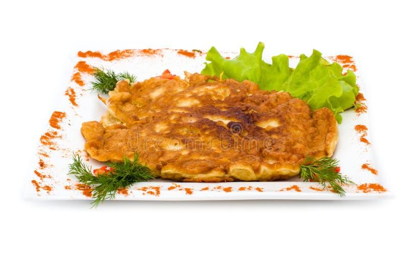 Hühnertorte lokalisiert auf Weiß stockfotos
