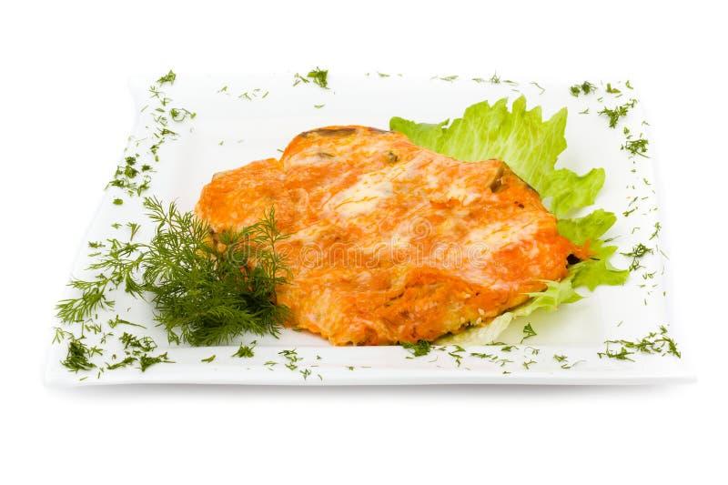 Hühnertorte lokalisiert auf Weiß stockfoto