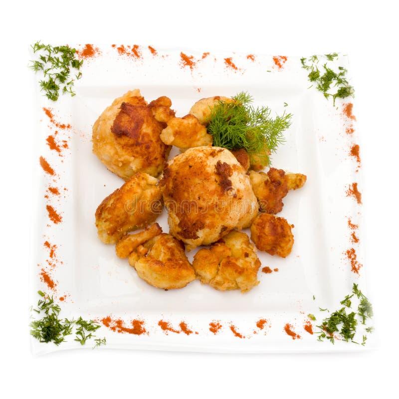 Hühnertorte lokalisiert auf Weiß lizenzfreies stockfoto