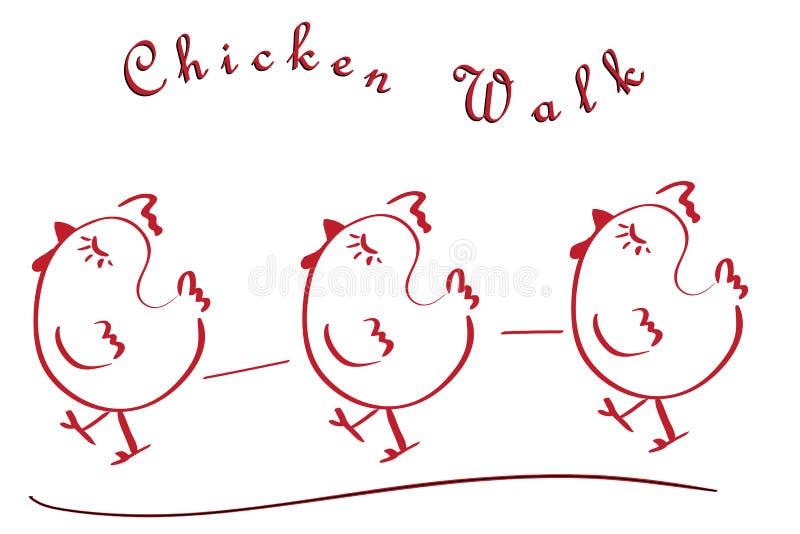 Hühnerweg lizenzfreie stockfotos