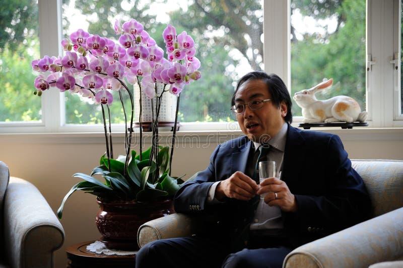 HüllenSie Tsui, den Vice-Chancellor des HKU ein stockbilder