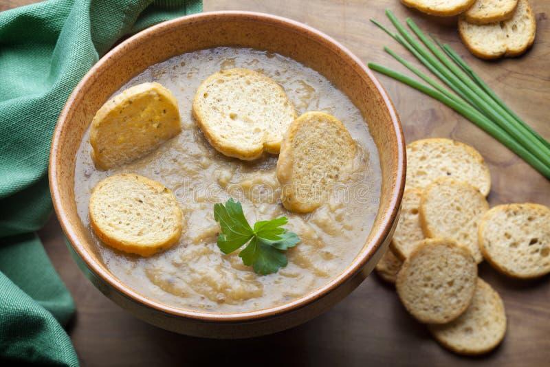 Hülsenfrucht-Suppe. stockfotografie