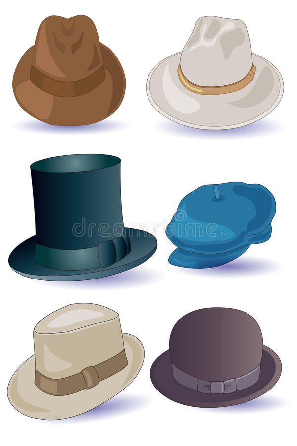 Hüte für Männer stock abbildung