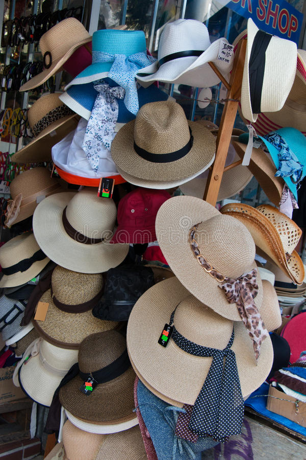 Hüte für Verkauf lizenzfreies stockbild