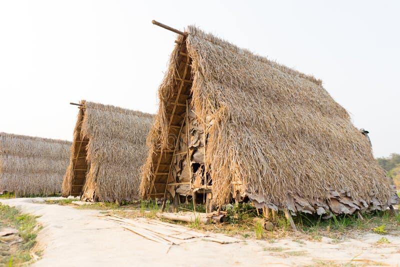 Hütte oder Häuschen vom Reisstroh stockbild
