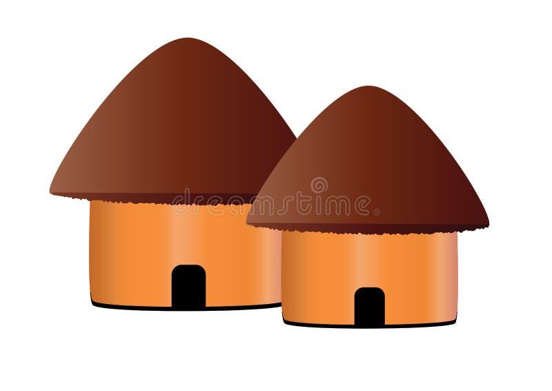Hütteikone stock abbildung