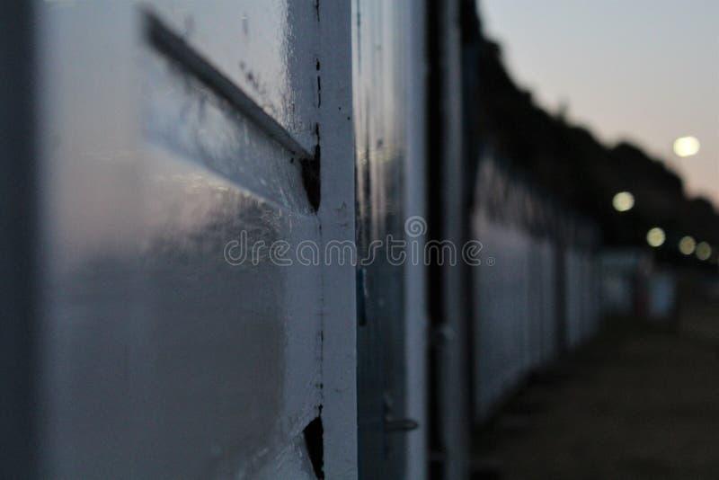 Hütten in einer Reihe lizenzfreie stockfotografie