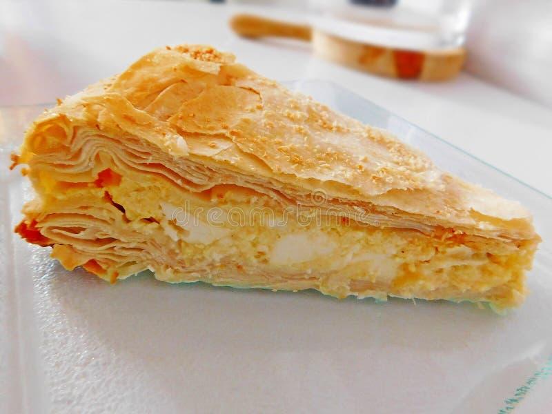 Hüttenkäse-Torte lizenzfreies stockbild