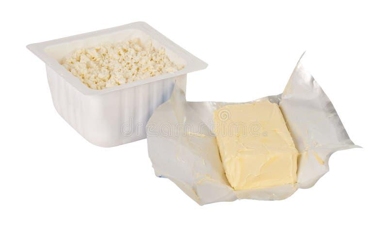 Download Hüttenkäse und Butter stockbild. Bild von block, fett - 27729503