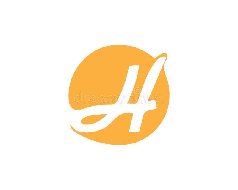 H信件商标 库存例证