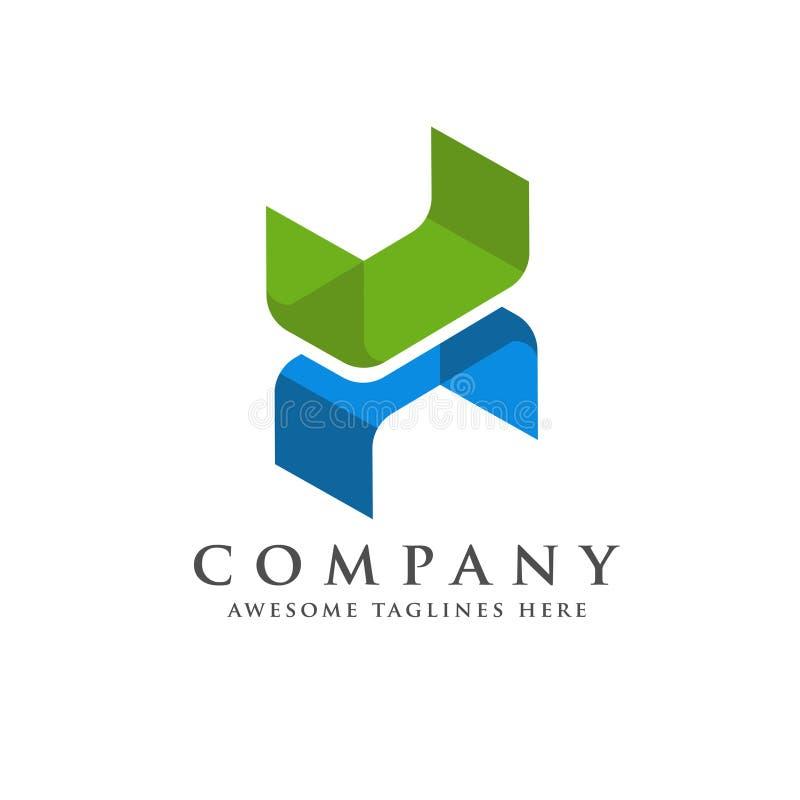 H信件趋向等量商标设计 库存例证
