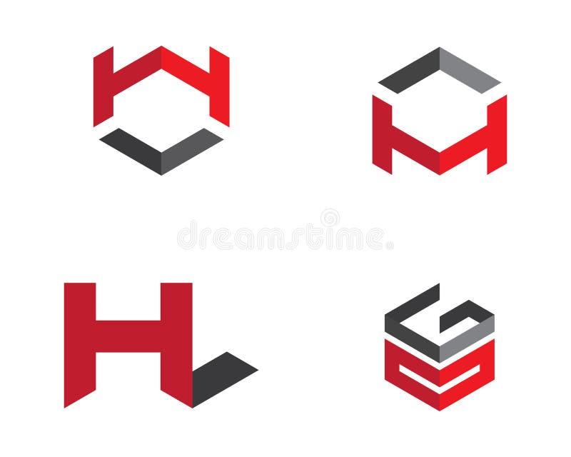 H信件企业财务专业商标模板 向量例证