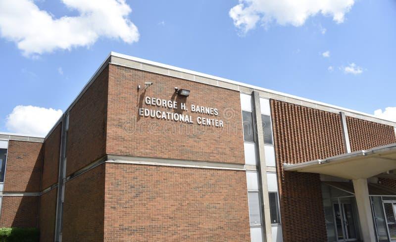 ??H 巴恩斯教育中心,孟菲斯,TN 库存图片