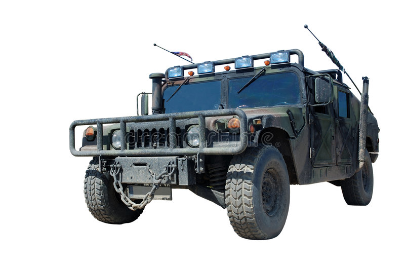 h 1 hummeru ciężarówka nas wojska obraz stock