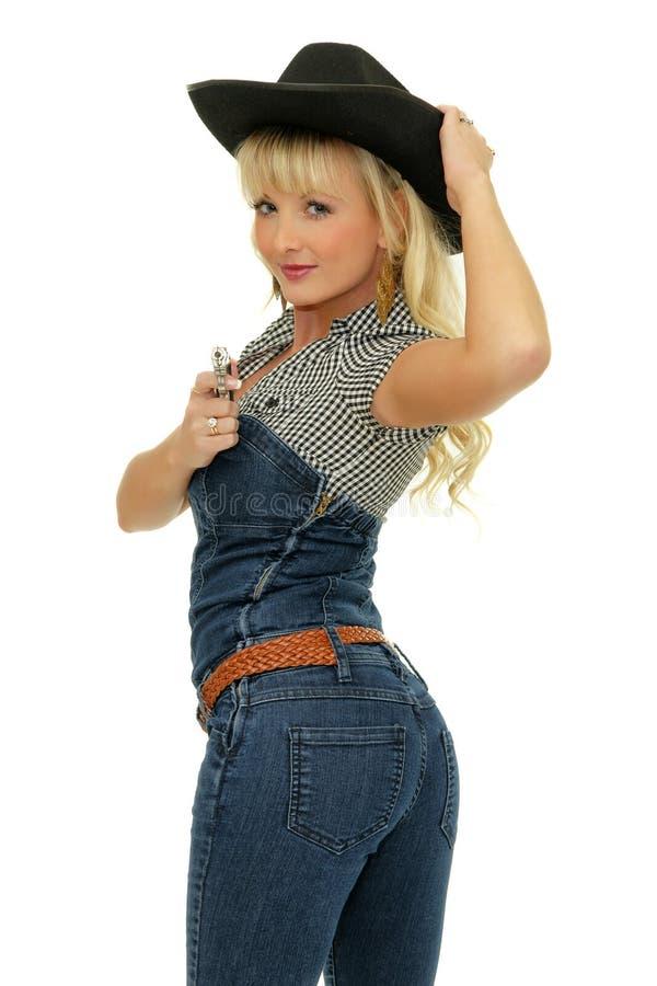 härlig cowgirl royaltyfria foton