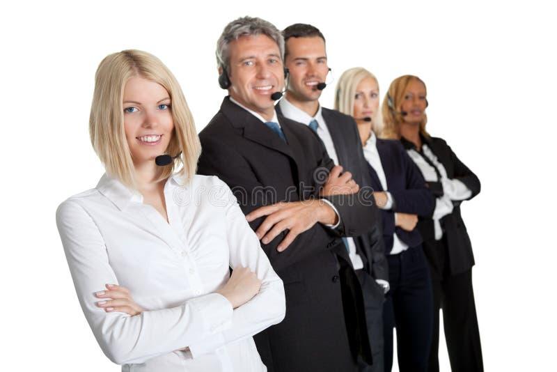härligt executive hörlurar med mikrofonslitage arkivbild