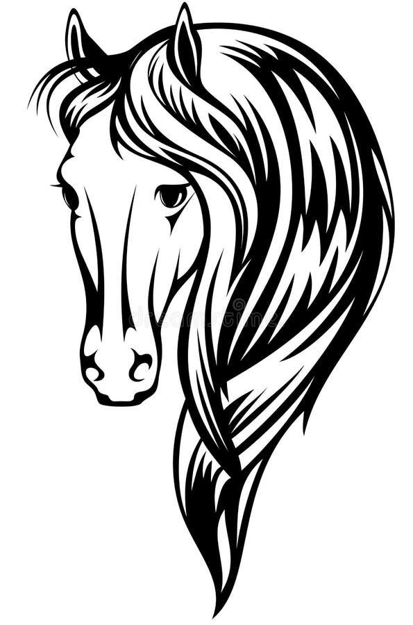 hästvektor royaltyfri illustrationer
