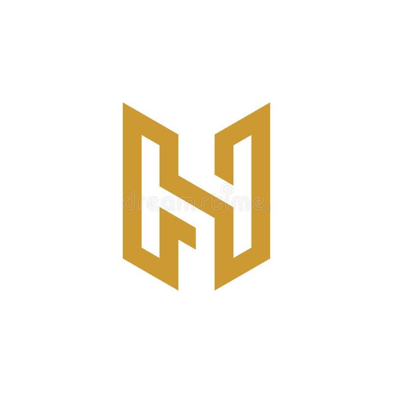 H brieven aanvankelijk embleem royalty-vrije illustratie