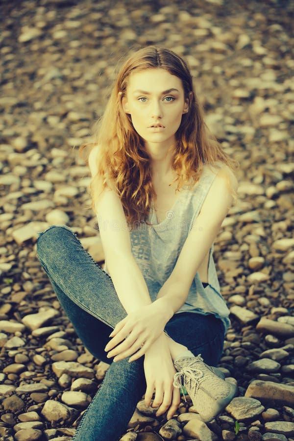 Recht D?nne Stilvolle Sexy Frau Stockfoto - Bild von ...