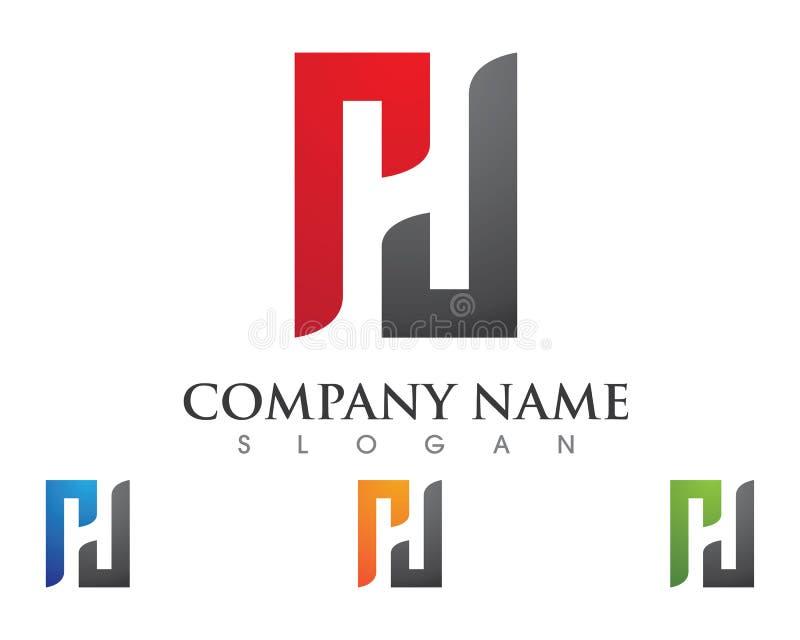 H-Buchstabe Logo Business lizenzfreie abbildung
