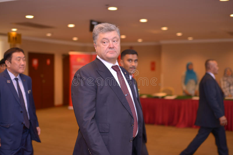 H e Petro Poroshenko, President van de Oekraïne stock afbeelding