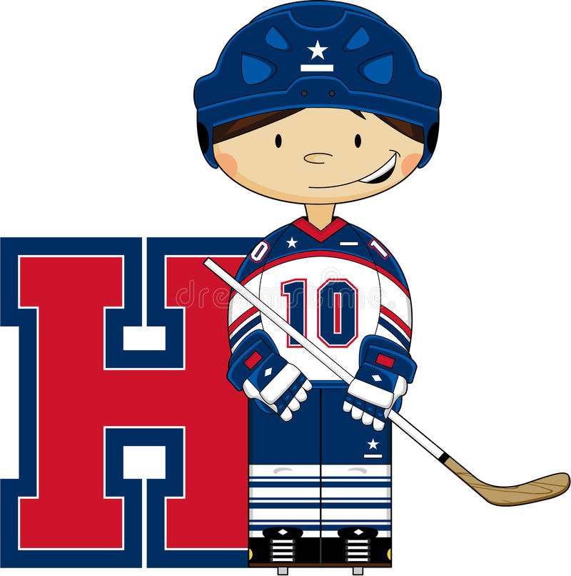 H está para el hockey stock de ilustración