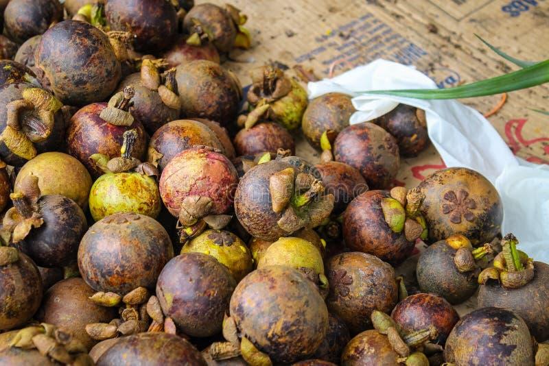 H?g av mangosteenen arkivfoto
