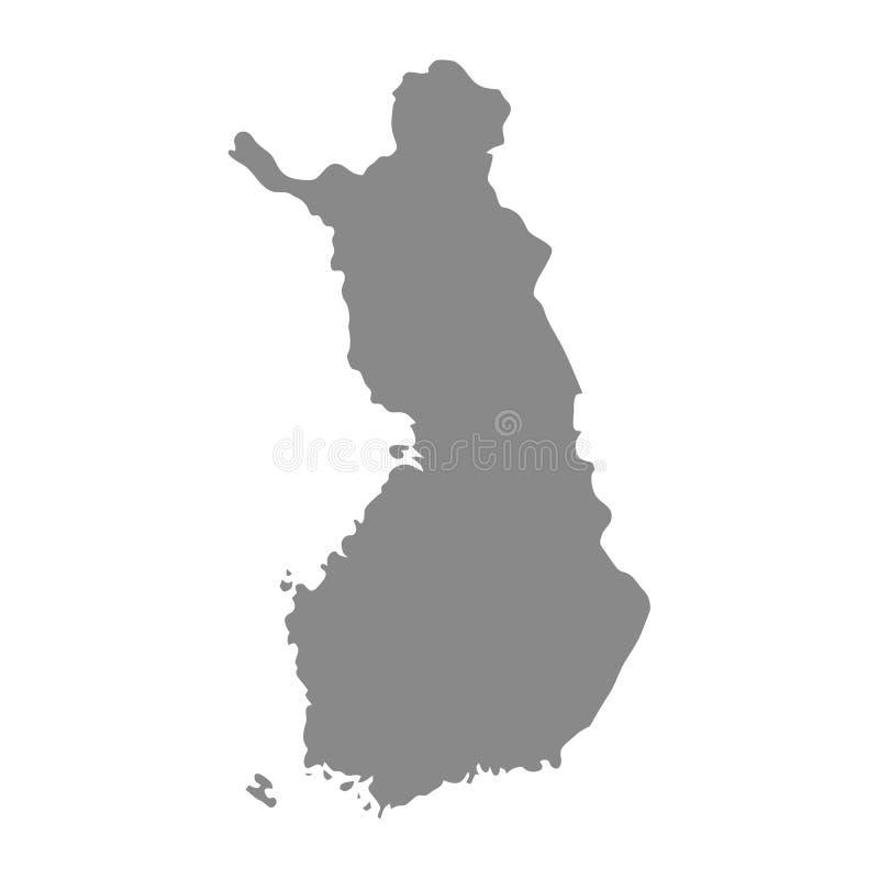 H?g detaljerad vektor?versikt - Finland royaltyfri illustrationer