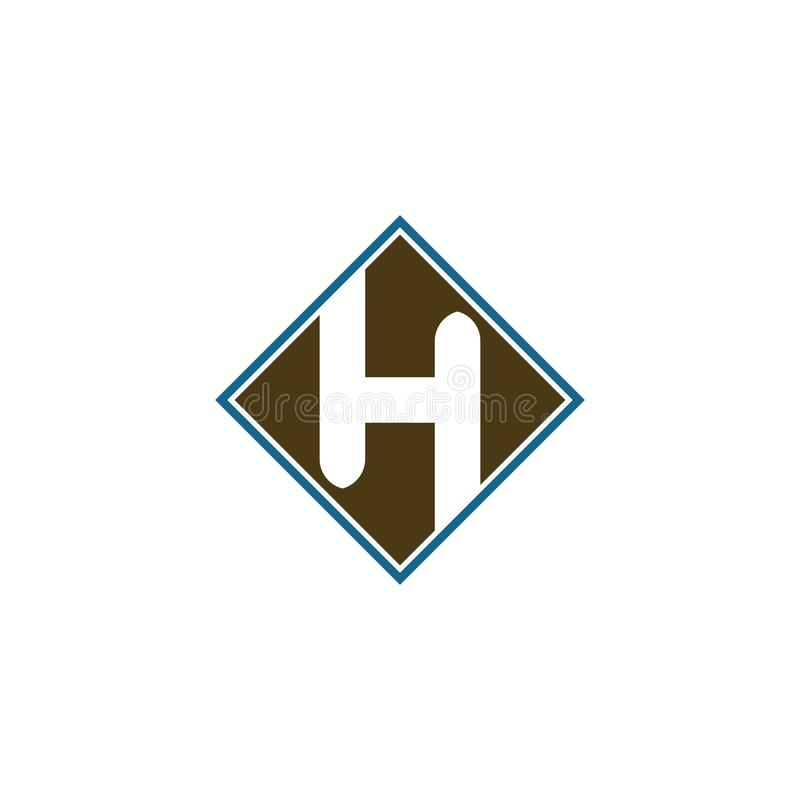 H Letter Logo Business Template Vector icon royalty free illustration