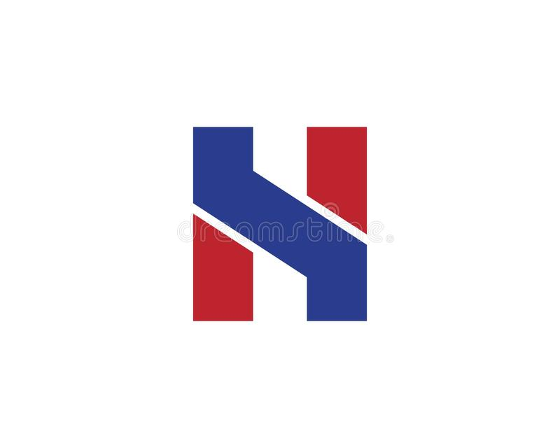 H Letter Logo Template Design Vector illustration stock illustration