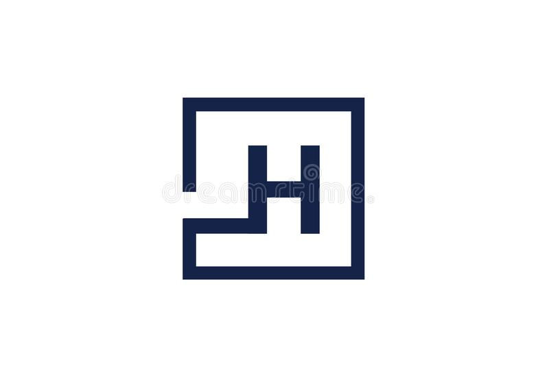 H Letter Square Modern Logo Design Business Concept. Vector isolated on white background vector illustration