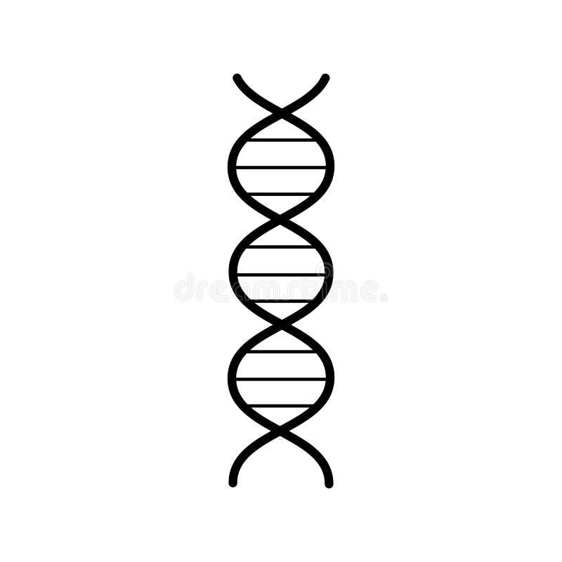 H?lice abstracta farmac?utica m?dica del gen de la DNA, icono blanco y negro simple en el fondo blanco Ilustraci?n del vector ilustración del vector