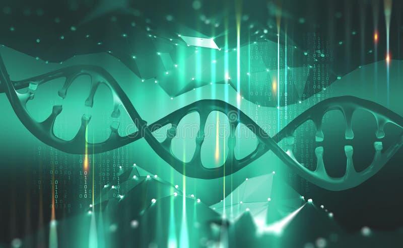 H?lice do ADN Ol?! tecnologia da tecnologia no campo da gen?tica ilustração royalty free