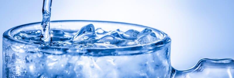 h?llande vatten f?r exponeringsglas royaltyfri fotografi