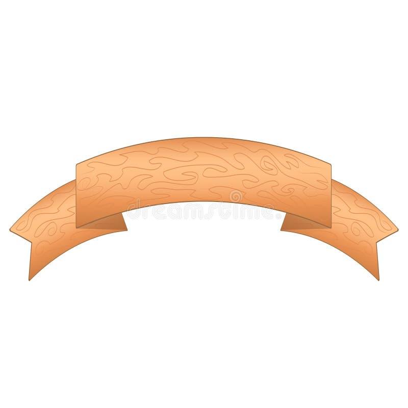 H?lzerne Plankenzeichen der Karikatur Hölzerne Fahnenvektorelemente lokalisiert auf weißem Hintergrund Runde Formillustration des lizenzfreie abbildung