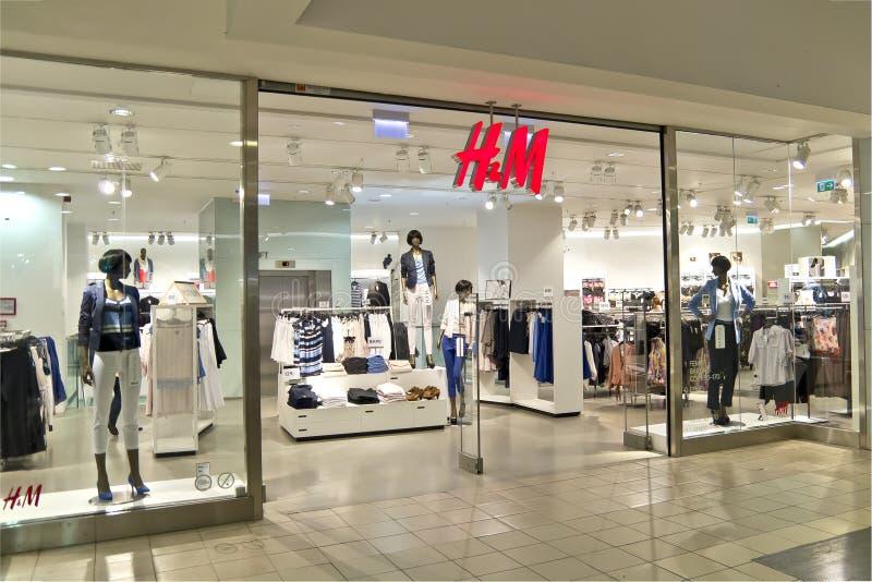 H&M κατάστημα στοκ φωτογραφία με δικαίωμα ελεύθερης χρήσης