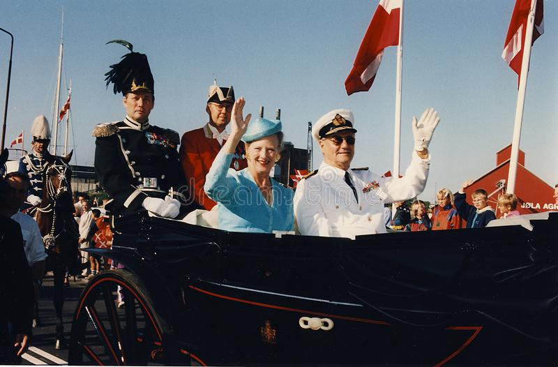 H M Książe Henrik królewska para i królowa fotografia royalty free
