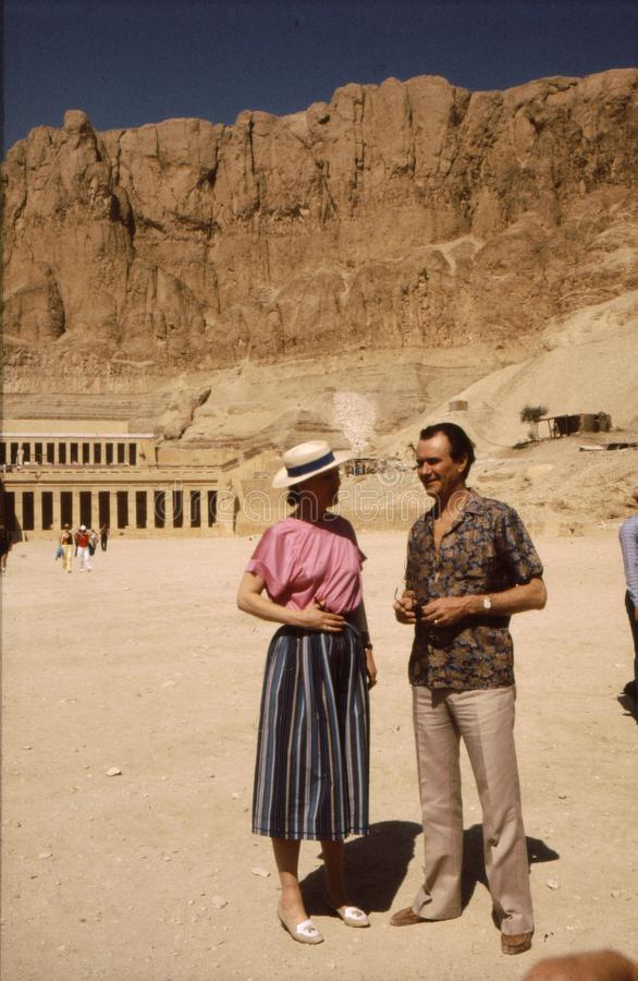 H M La Reine Margrethe et prince Henrik en Egypte photo libre de droits