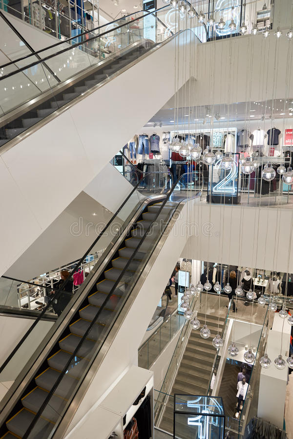 H&M opslag royalty-vrije stock afbeeldingen