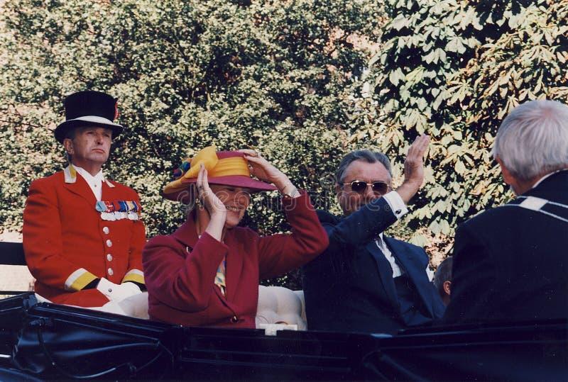 H M A RAINHA MARGRETHE E PRÍNCIPE HENRIK VISISTS imagens de stock royalty free