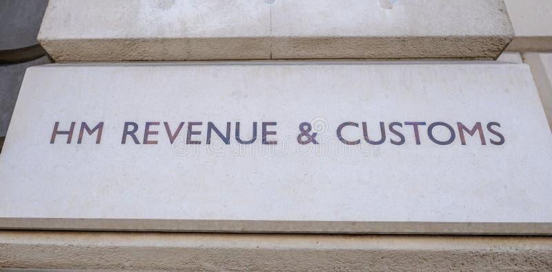 H M Revenue und Gewohnheiten, Zeichen auf der Whitehall-Regierung reisen ab stockbilder