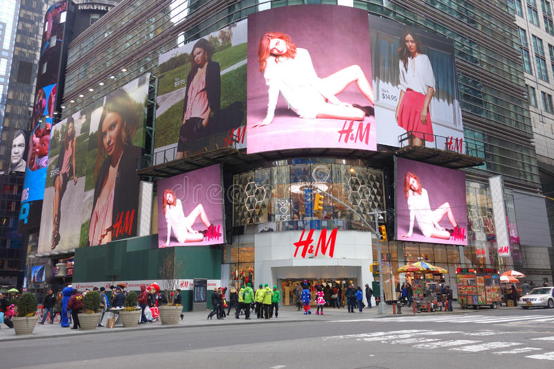 H&M Store arkivfoton