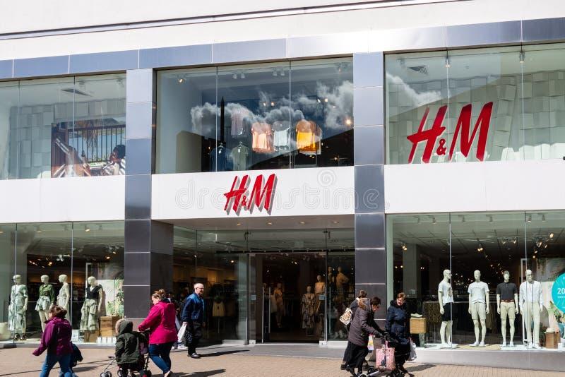 H&M Store Frontage immagini stock libere da diritti