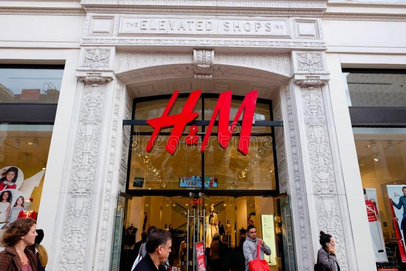 H&M Storefront Union Square San Francisco photo libre de droits