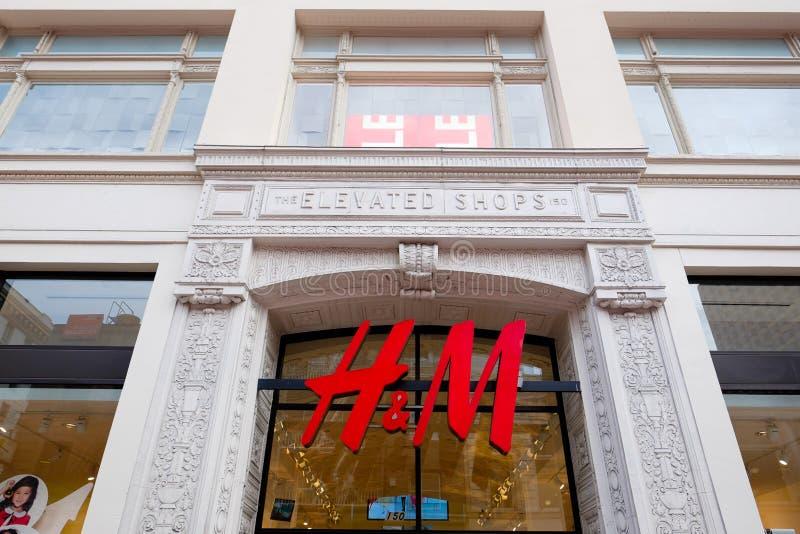 H&M Storefront Union Square San Francisco image libre de droits