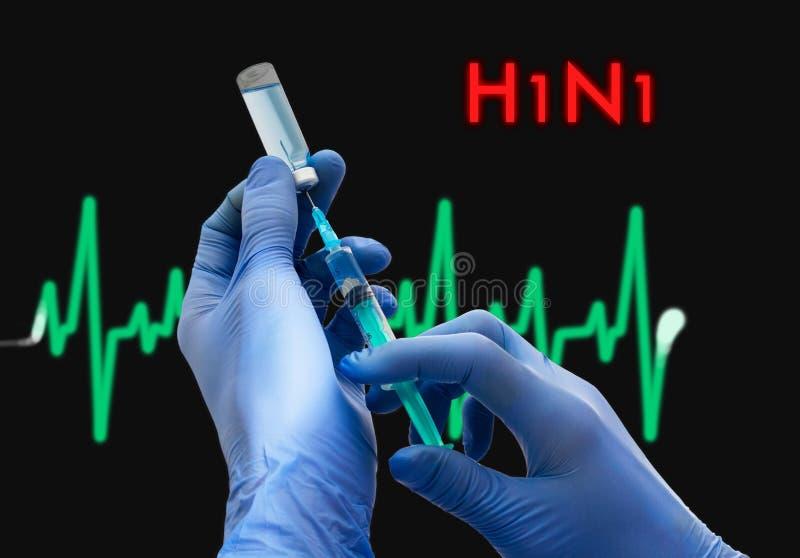 h1n1 (猪流感) 免版税库存图片