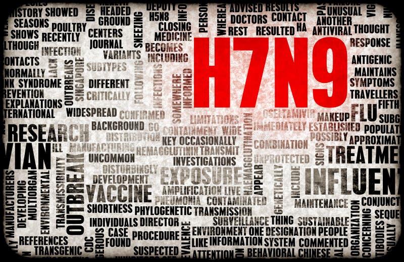 H7N9 stock illustrationer